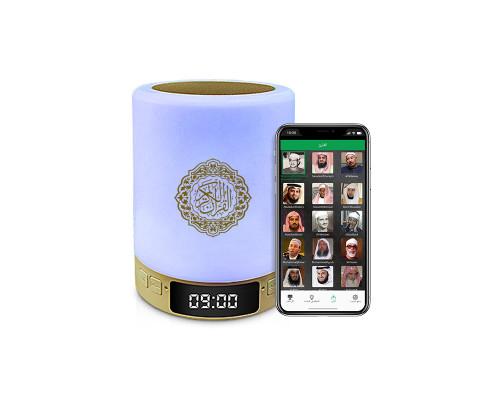Колонка лампа Коран ночник Цилиндр с часами